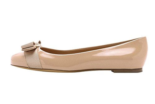 Guoar-Womens-Ballet-Flats-Big-Size-Chic-Bowkont-Flats-Round-Toe-Patent-Pumps-Shoes-for-Dressing-Work-0