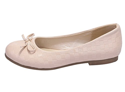 Guoar-Womens-Ballet-Flats-Big-Size-Court-Shoes-Round-Toe-Bowtie-Pumps-for-Wedding-Party-Dress-0