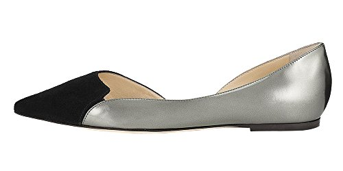 Guoar-Womens-Ballet-Flats-Big-Size-Sandals-Ladies-Shoes-Suede-Pointed-Toe-DOrsayTwo-Piece-Pumps-Dress-0