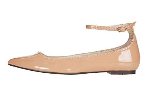 Guoar-Womens-Ballet-Flats-Plus-Size-Ladies-Shoes-Ankle-Strap-Closed-toe-Pumps-Shoes-0