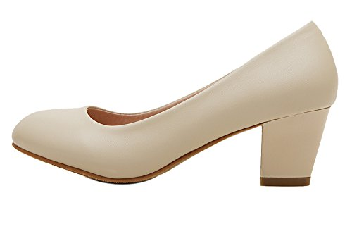 Guoar-Womens-Blcok-Low-Mid-Heel-Big-Size-Solid-Shoes-Round-Toe-PU-Dolly-Shoes-Pumps-for-Wedding-Party-0