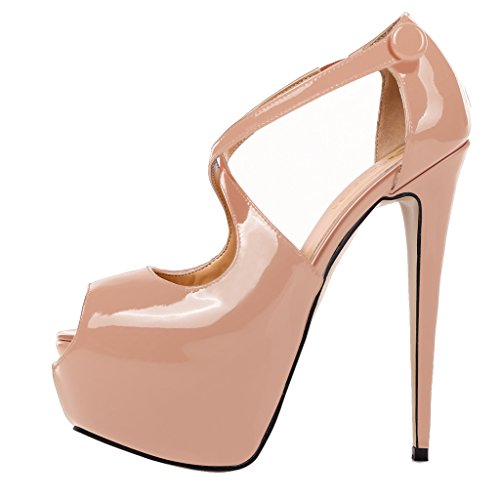 Guoar-Womens-Court-Shoes-High-Heel-Big-Size-Peep-Toe-with-Platform-Patent-Pumps-for-Wedding-Party-Dress-0