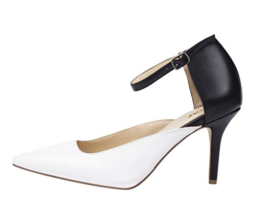 Guoar-Womens-Dorsay-Stiletto-Heel-Ankle-Strap-Sandals-Double-Color-Pumps-Shoes-For-Spring-Summer-0