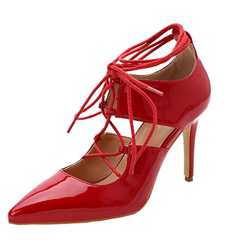 Guoar-Womens-High-Heel-Sandals-Big-Size-Solid-Shoes-Pointed-Toe-Dress-Lace-up-Pumps-0