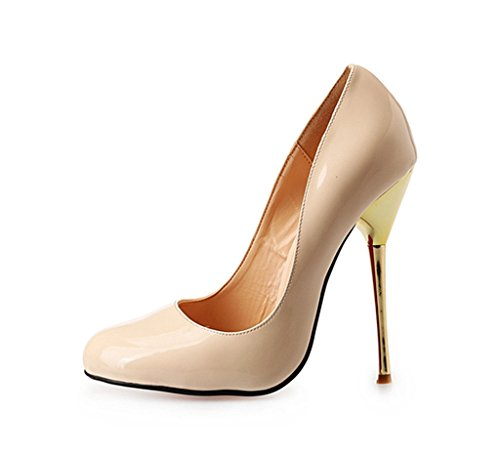 Guoar-Womens-Large-Size-Metal-High-Heel-Closed-Toe-Pumps-Dress-Shoes-for-Party-Wedding-0