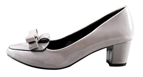 Guoar-Womens-Low-Mid-Blcok-Heel-Big-Size-Solid-Shoes-Round-Toe-Patent-Dolly-Bowtie-Shoes-Patent-Pumps-0