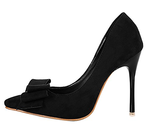Guoar-Womens-Stiletto-Heel-Big-Size-Court-Shoes-Bowtie-Pointed-Toe-Suede-Pumps-for-Wedding-Party-Dress-0
