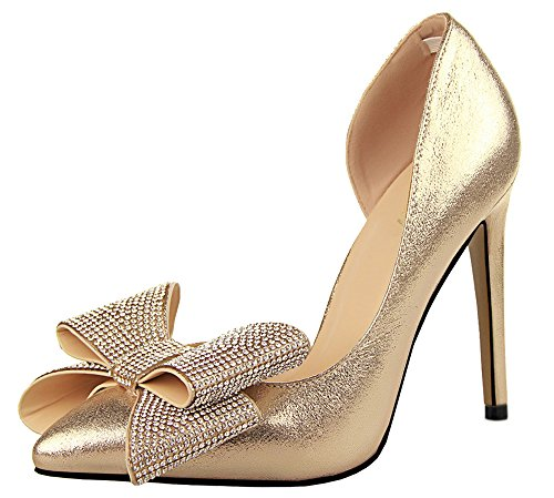 Guoar-Womens-Stiletto-Heel-Big-Size-Shoes-Pointed-Toe-DOrsayTwo-Piece-Bowtie-Pump-for-Wedding-Party-0