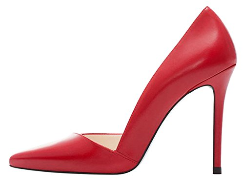 Guoar-Womens-Stiletto-Heel-Big-Size-Solid-Shoes-Pointed-Toe-DOrsayTwo-Piece-PU-Pumps-for-Wedding-Party-0