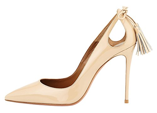 Guoar-Womens-Stiletto-Heel-Big-Size-Solid-Shoes-Pointed-Toe-Fringe-Pumps-for-Wedding-Party-Dress-0