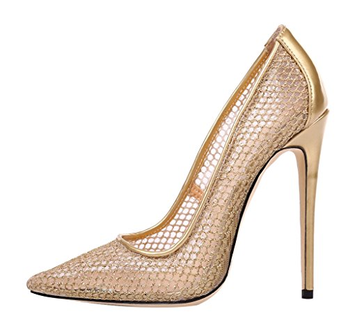 Guoar-Womens-Stiletto-Heel-Sandals-Big-Size-Shoes-Pointed-Toe-Mesh-Patent-Pumps-for-Wedding-Party-Dress-0