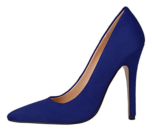 Guoar-Womens-Stiletto-Heel-Sandals-Big-Size-Shoes-Pointed-Toe-Suede-Ladies-Pumps-for-Work-Place-Dress-0