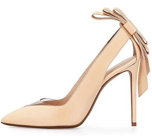Guoar-Womens-Stiletto-Heel-Sandals-Big-Size-Solid-Shoes-Pointed-Toe-Bowtie-Pumps-for-Wedding-Party-Dress-0