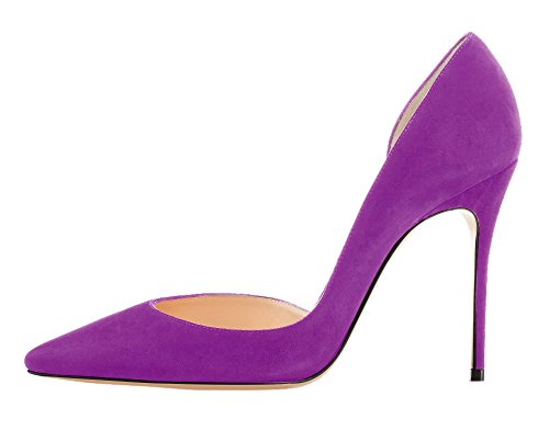 Guoar-Womens-Stiletto-Heels-Sandals-Big-Size-Solid-Shoes-Pointed-Toe-DOrsayTwo-Piece-Pumps-for-Party-0