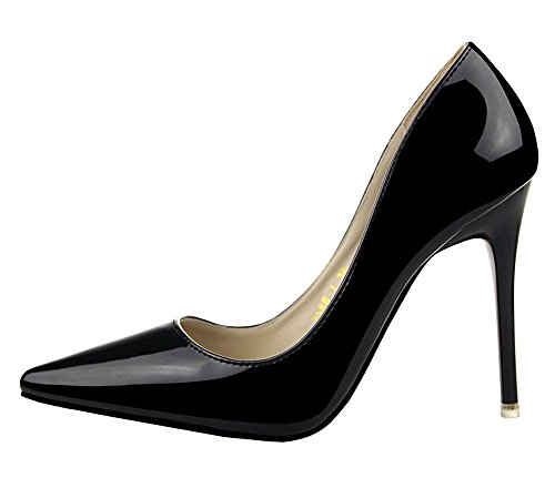 Guoar-Womens-Stiletto-Heels-Sandals-Big-Size-Solid-Shoes-Pointed-Toe-Patent-Pump-for-Wedding-Party-Dress-0