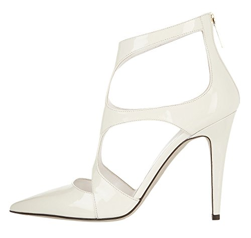 Guoar-Womens-Stiletto-Shoes-High-Heel-Big-Size-Sandals-Pointed-Toe-Cut-out-Zip-Pumps-for-Wedding-Party-0