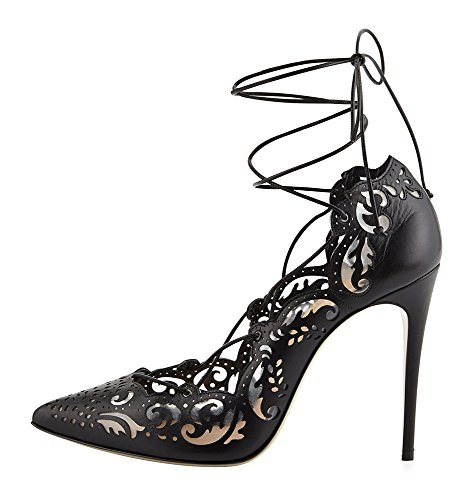 Guoar-Womens-Stiletto-Shoes-High-Heel-Sandals-Big-Size-Pointed-Toe-Lace-Up-Cut-Out-Pumps-for-Dress-0