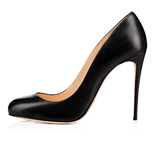 JOOGO-Women-Round-Toe-Pull-on-High-Heel-Platform-Pumps-for-Party-Wedding-Dress-0