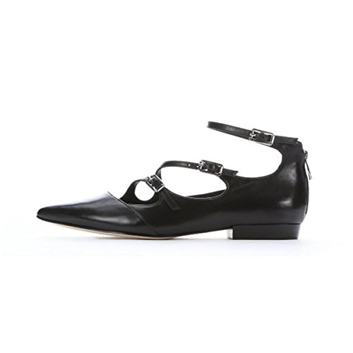 JOOGO-Womens-Fashion-Patent-leather-Pointed-Toe-Strappy-Buckle-Low-Heel-Ballet-Dance-Shoes-0