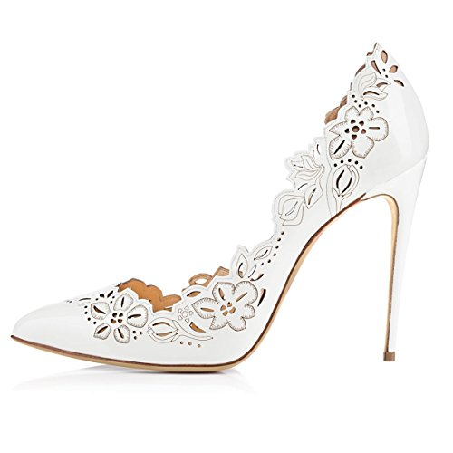 JOOGO-Womens-Fashion-Pointed-Toe-High-Heel-With-Cut-Flower-Pumps-0