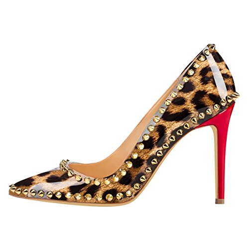 JOOGO-Womens-Fashion-Pointed-Toe-High-Heel-with-Gold-Rivet-Decoration-Leopard-Print-Dress-Pumps-0