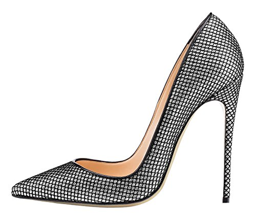 MONICOCO-Womens-Stiletto-Heel-Plus-Size-Shoes-Pointed-Toe-Special-Fabric-Pump-for-Wedding-Party-Dress-0