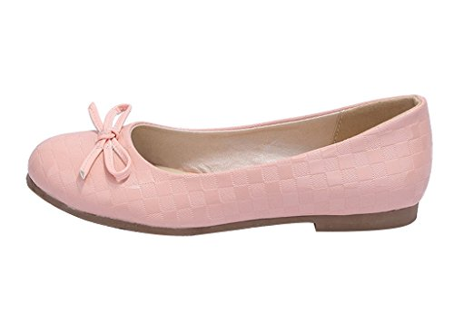 Guoar-Womens-Ballet-Flats-Big-Size-Court-Shoes-Round-Toe-Bowtie-Pumps-for-Wedding-Party-Dress-Pink-US-10-0