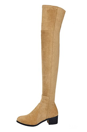 Guoar-Womens-Low-Block-Heel-Shoes-Bootie-Round-Toe-Zip-Slio-On-Leather-Thigh-High-Boots-for-Party-Dress-Khaki-US14-0