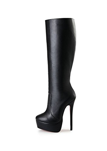 Guoar-Womens-Plus-Size-Platform-High-Heels-Knee-High-Boots-for-Party-Wedding-Dress-Black-PU-US-15-0