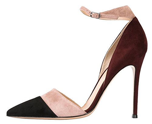 Guoar-Womens-Stiletto-Big-Size-Heel-Sandals-Pointed-Toe-Colourful-Suede-Pumps-for-Wedding-Party-Dress-Chocolate-US6-0