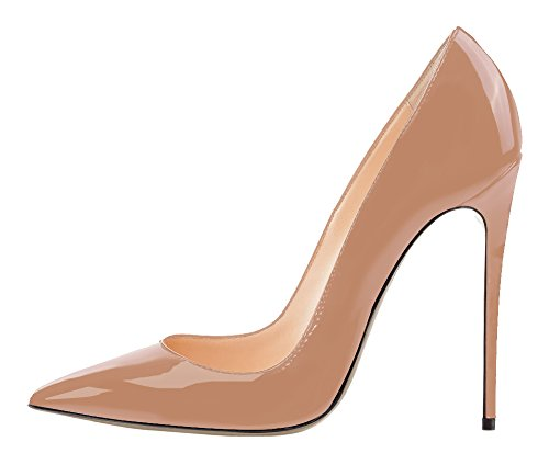 Guoar-Womens-Stiletto-Big-Size-Shoes-Pointed-Toe-Patent-Ladies-Solid-Pumps-for-Work-Place-Dress-Party-Nude-US8-0