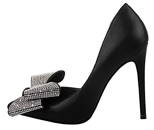 Guoar-Womens-Stiletto-Heel-Big-Size-Shoes-Pointed-Toe-DOrsayTwo-Piece-Bowtie-Pump-for-Wedding-Party-Dress-Black-US9-0