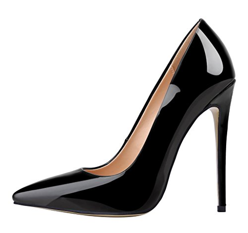 Guoar-Womens-Stiletto-Heel-Plus-Size-Solid-Shoes-Pointed-Toe-Patent-Pumps-for-Wedding-Party-Dress-Black-US12-0
