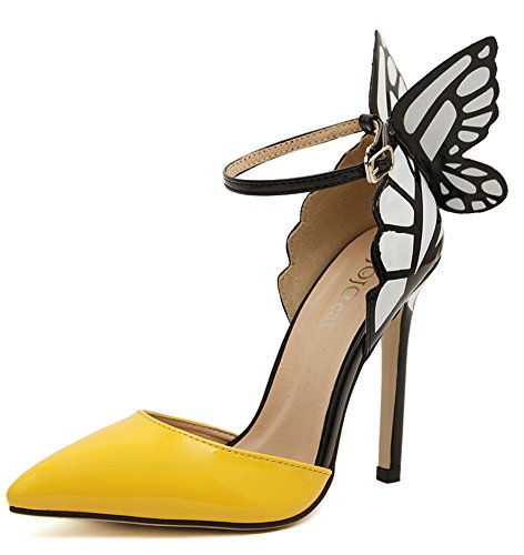 2016-American-Women-Colorful-Butterfly-Pointed-Wedding-High-Heeled-Shoes-Woman-Bow-Party-Bridal-PumpsA8-9-0