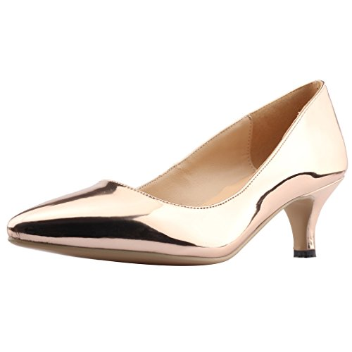 Calaier-Womens-Cahalfway-Pointed-Toe-55CM-Stiletto-Slip-on-Pumps-Shoes-0