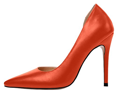 Guoar-Womens-Stiletto-Heel-Sandals-Plus-Size-Shoes-Pointed-Toe-DOrsayTwo-Piece-Solid-Pumps-for-Party-0