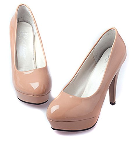 LOVEBEAUTY-Womens-Candy-Color-Waterproof-High-Heels-Pump-Shoes-Wedding-Shoes-0
