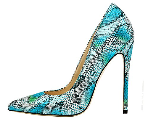 Maikool-Womens-Plus-size-Pointed-Toe-Snakeskin-Stiletto-Heels-Office-Party-Pumps-Size-5-15-0