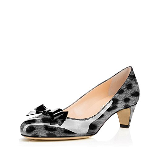 YDN-Women-Closed-Round-Toe-Pumps-Low-Heels-Shoes-with-Bowknot-for-Work-Office-Ladies-0