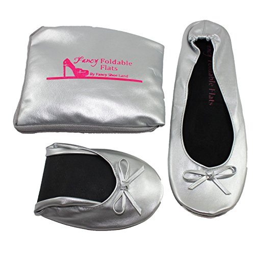 Foldable-ballet-Flats-with-EXPANDABLE-TOTE-Bag-for-Carrying-High-Heels-Sizes-5-to-12-large-SIZE-shoes-Portable-Travel-Fold-up-Shoes-Prom-Folding-Shoes-Ballet-Comfortable-0