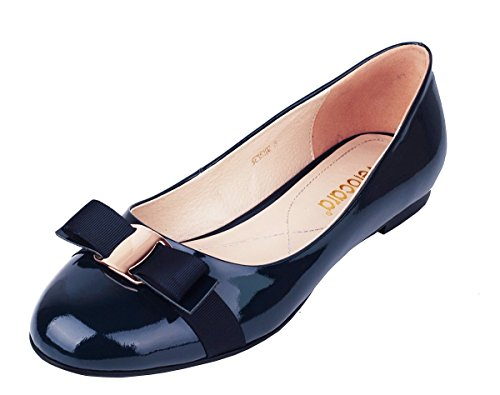 Verocara-Womens-Flat-Round-Toe-with-Bow-tie-Casual-Balleria-Genuine-Leather-Shoes-for-Party-and-Office-0-0