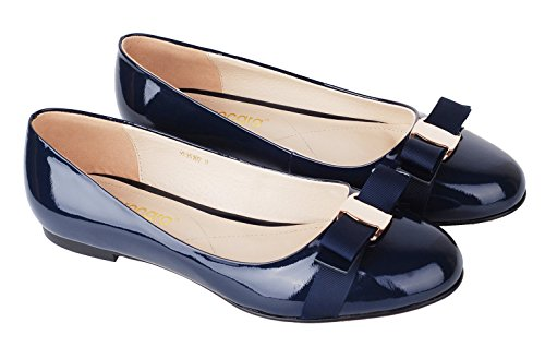 Verocara-Womens-Flat-Round-Toe-with-Bow-tie-Casual-Balleria-Genuine-Leather-Shoes-for-Party-and-Office-0-1