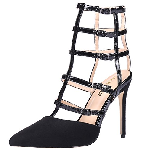 AOOAR-Womens-Ankle-Strappy-Gladiator-Sandal-Pumps-0