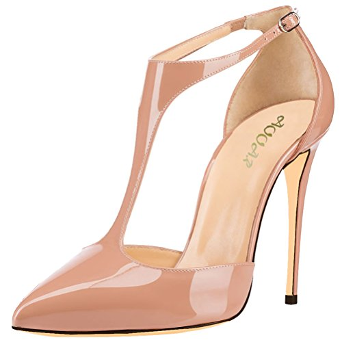 AOOAR-Womens-Ankle-T-Strap-High-Heel-Nude-Patent-Party-Pumps-9-M-US-0