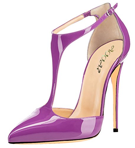 AOOAR-Womens-Ankle-T-Strap-High-Heel-Party-Pumps-Shoes-0