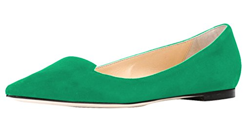 AOOAR-Womens-Classic-Green-Suede-Casual-Flats-11-M-US-0