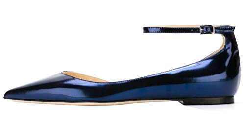 AOOAR-Womens-DOrsay-Ankle-Strap-Royalblue-Mirror-Patent-Flats-7-M-US-0-0