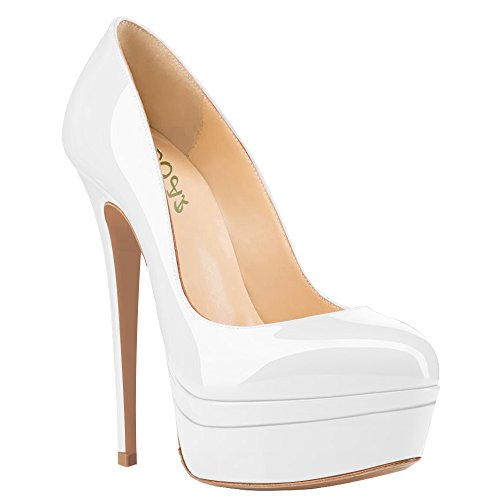 AOOAR-Womens-Double-Platform-High-Heel-White-Patent-Pumps-13-M-US-0-1