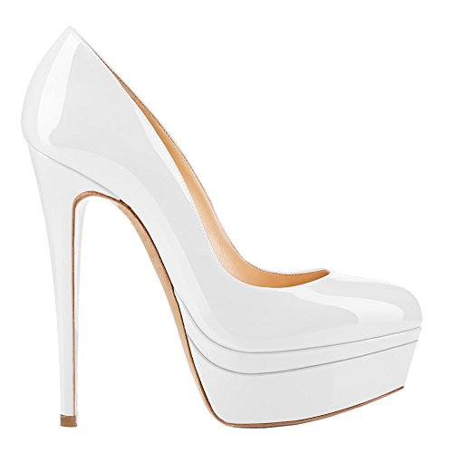 AOOAR-Womens-Double-Platform-High-Heel-White-Patent-Pumps-13-M-US-0-2