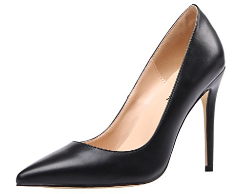 AOOAR-Womens-Heeled-Slip-On-Black-PU-Dress-Pumps-14-M-US-0